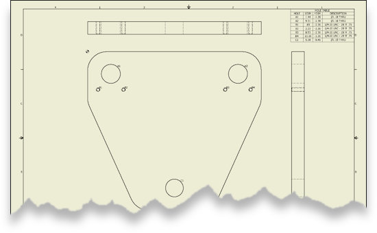 Adding Hole features to a 2d to 3D CADD Conversion