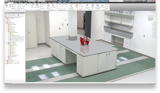 Another feature of 2D to 3D CADD Conversion is the ability to apply IBL lighting!