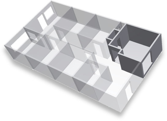 This is a set of rooms created with a configurator made using Autodesk Inventor and iLogic.