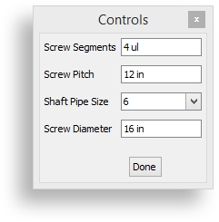 Controls for a Screw Conveyor Configurator